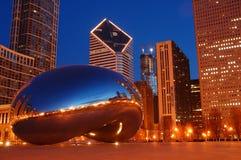 Chicago ed il fagiolo Fotografie Stock Libere da Diritti