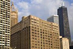 Chicago - edificios a lo largo de Gold Coast Foto de archivo