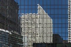 Chicago in einem Fenster Lizenzfreies Stockbild