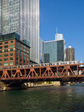 The Chicago Elevated Train Royalty Free Stock Images