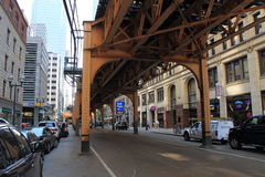 Chicago Elevated Train Royalty Free Stock Photos