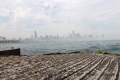 Chicago en la niebla Imágenes de archivo libres de regalías