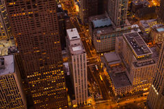 Chicago en la noche Imágenes de archivo libres de regalías