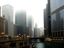 Chicago en noviembre imagenes de archivo