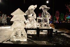 Chicago, Etats-Unis 31 décembre 2016 Sculptures en glace Photos stock