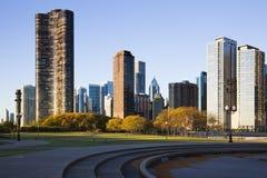 chicago fall royaltyfri bild