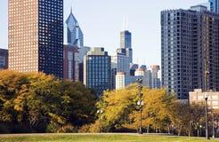 chicago fall arkivbilder