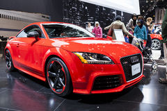 CHICAGO - FEB 16: The Audi TT RS on display at the 2013 Chicago Royalty Free Stock Photography