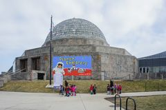 Many kids visitng the Adler Planetarium. Chicago, FEB 1: Many kids visitng the Adler Planetarium on FEB 1, 2012 at Chicago, Illinois, United States royalty free stock photo