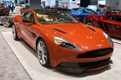 Aston Martin in Chicago Auto toont Stock Fotografie