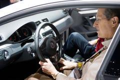 VW in Chicago Auto toont Stock Foto