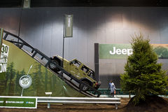 Jeep på Chicago den Auto showen Royaltyfria Foton