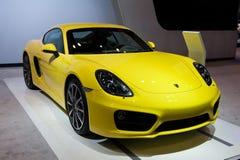 Porsche in Chicago Auto toont Stock Afbeeldingen