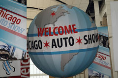 Chicago Auto Show. Chicago - February 16: Auto Show Globe in McCormick Place. Chicago Auto Show is one of the famous place in USA on February 16, 2013 in Chicago Stock Image