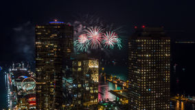 Chicago-Feuerwerke Stockbilder
