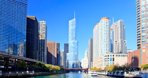 Chicago Financial District Stock Image