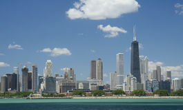 Chicago financial district Royalty Free Stock Images