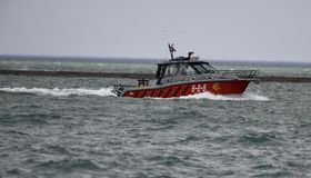 Chicago Fire Department Rescue Boat Royalty Free Stock Photos