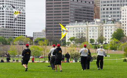 Chicago Fire Kite Team Stock Images