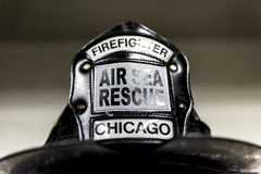 Chicago Fire reportage royalty free stock image