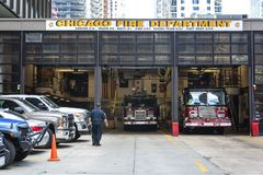 Chicago Fire reportage royalty free stock images