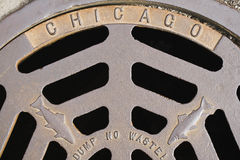 Chicago Fish Manhole Cover Stock Photography