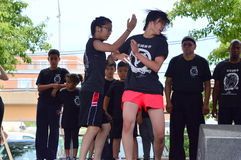 Chicago 168 Fitness team at Chinatown Summer Fair stock image