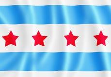 chicago flagę Zdjęcia Royalty Free