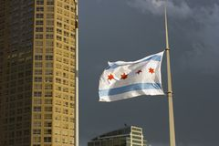 Chicago Flag royalty free stock image