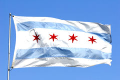 Chicago flag Royalty Free Stock Images