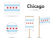 Chicago flag Stock Images