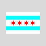 Chicago flaggavektor Royaltyfri Bild