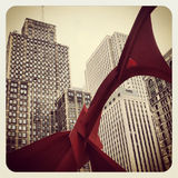 Chicago. The Flamingo on Dearborn, Downtown Chicago stock photography