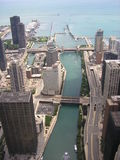 chicago flod Royaltyfria Bilder