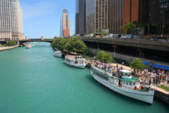 chicago flod Arkivbild
