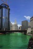 chicago flod royaltyfri foto