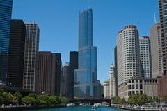 chicago flodhorisont Arkivfoton