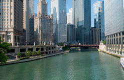 Chicago flodstad av Chicago Illinois, USA Royaltyfri Foto