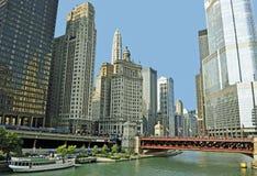 Chicago-Fluss Stockbild