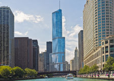 Chicago-Fluss-Skyline, Illinois Stockfotografie