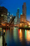 Chicago-Flussufer Stockbild