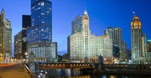 Chicago-Flussufer Stockfotos