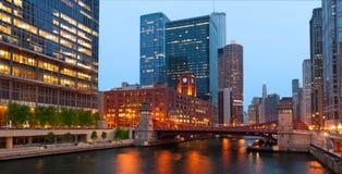 Chicago-Flussufer Lizenzfreie Stockfotografie