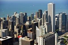 Chicago flygbild Royaltyfri Bild