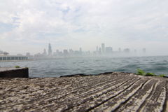 Chicago in the Fog. Chicago, on Lake Michigan in Illinois, is among the largest cities in the U.S. Famed for its bold architecture, it has a skyline bristling Royalty Free Stock Images