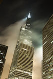 Chicago foggy skyline - Motion blur Stock Image