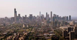 Chicago från luften arkivfoton