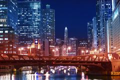 Chicago Franklin Bridge Stock Photo