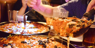 chicago głęboka naczynia pizza obraz stock