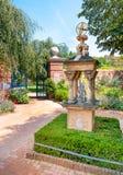 Chicago Garded botánico, inglés emparedó el área del jardín, los E.E.U.U. fotografía de archivo